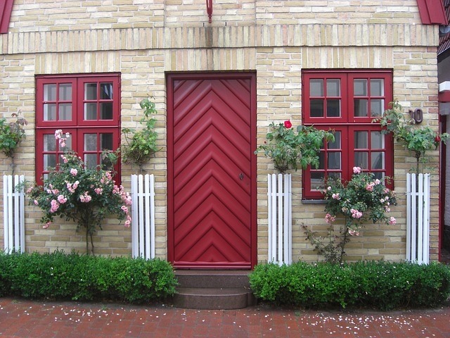růže u domu
