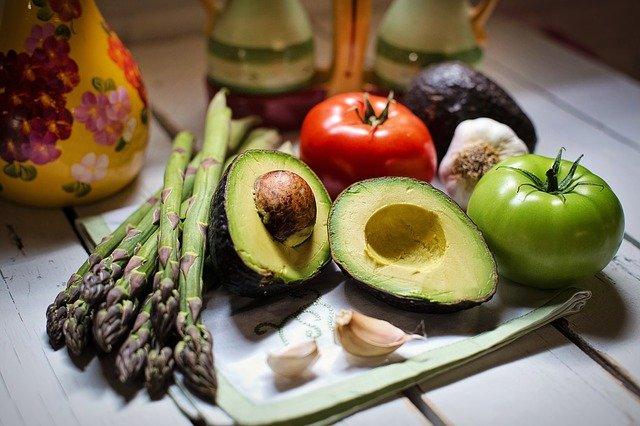 chřest a zelenina