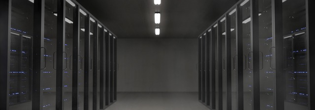 Temná místnost se servery