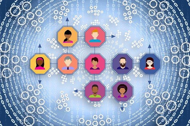 propojení lidí přes internet